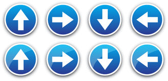 Icons arrows Stock Image