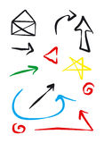 Icons and Arrows. A collection of symbols including icons and arrows Stock Photography