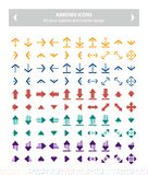 Icons arrows - colorful flat. This pack contains 100 colorful icons uniqe and modern of Directions Arrows that you can use in your designs.nn-100% .nn-Easy to vector illustration