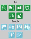 Icons Art People Stock Photos