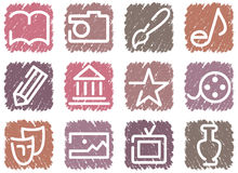 Icons of arts Royalty Free Stock Photography