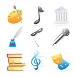 Icons for arts Royalty Free Stock Photography