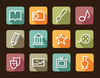 Icons of arts Stock Image