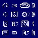 Icons Audio devices Stock Photos