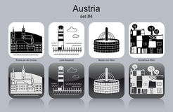 Icons of Austria Stock Photos