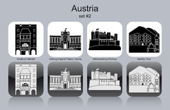 Icons of Austria Stock Images