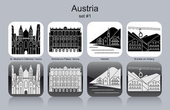 Icons of Austria Stock Photo