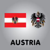 Icons of Austria Royalty Free Stock Images