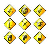 Icons auto repair Royalty Free Stock Image