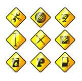 Icons auto repair Royalty Free Stock Image