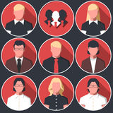 Icons avatars of business men and women vector illustration