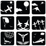Icons for aviation Stock Images