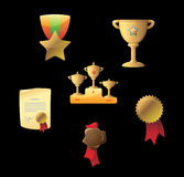 Icons for awards Royalty Free Stock Images