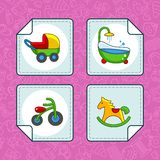 Icons for the baby part 3 Royalty Free Stock Image
