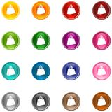 Icons Bag. 16 colorful shiny buttons/icons for your application vector illustration