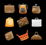 Icons for bags Stock Photography