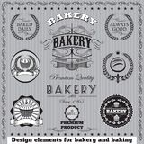 Icons for  baking and bakery Stock Photography