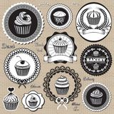 Icons for  baking and bakery. Set of vector design elemnts icons for  baking and bakery Royalty Free Stock Images