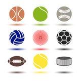 Icons balls, vector illustration. Stock Image