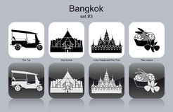 Icons of Bangkok vector illustration