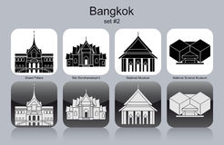 Icons of Bangkok Royalty Free Stock Photo