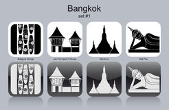 Icons of Bangkok Royalty Free Stock Photography