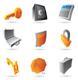 Icons for banking. Icons for finance, security and banking. Vector illustration Royalty Free Stock Image