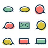 Icons, Banners for Retro Chat Royalty Free Stock Photography