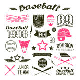 Icons Baseball campus team Stock Photography