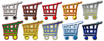 Icons of baskets Royalty Free Stock Photo