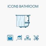 Icons bathroom set Stock Photos