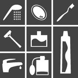 Icons bathroom. Set of icons on a theme of bathroom Stock Photography