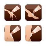 Icons of beauty treatments. Stock Photo
