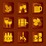 Icons of beer Stock Photos