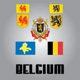 Icons of Belgium Royalty Free Stock Photo