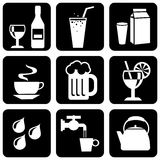 icons on beverages Stock Photos