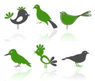 Icons of birds2 Royalty Free Stock Images