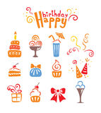 Icons - birthday Royalty Free Stock Photos