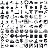 Icons black on white background Royalty Free Stock Photos