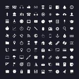 Icons on black and white. A large set of various icons on black and white Stock Images
