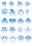Icons in blue-ice-optik royalty free stock photos