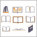 Icons of books Stock Images