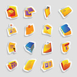Icons for books and papers Royalty Free Stock Photos
