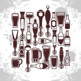 Beer taps icons Royalty Free Stock Photos