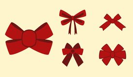 Icons bows. Set of icons on a theme bows Stock Images