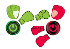 Icons boxers knockout Royalty Free Stock Photo