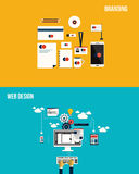 Icons for Branding and web design. Flat style. Vector Stock Image