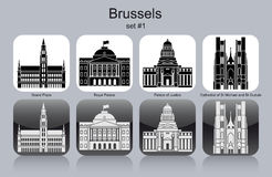 Icons of Brussels Stock Photography
