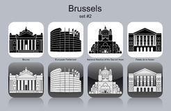 Icons of Brussels Royalty Free Stock Photography