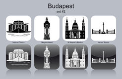 Icons of Budapest Royalty Free Stock Photo